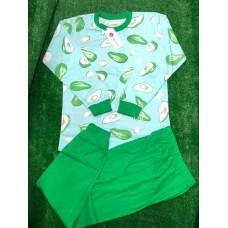 Пижама тонкая «Авокадо» 4 шт в уп (9-12) оптом