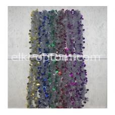 Мишура s-11 (9 см, 6 цветов, 120 шт) оптом