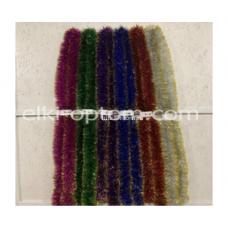 Мишура s-14 (9 см, 6 цветов, 150 шт) оптом