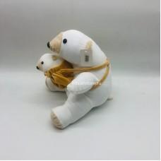 """Мягкая игрушка """"Белый мишка"""" с малышом 28 см оптом"""