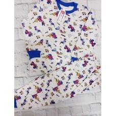 Пижама тёплая «Гоночные машины» 4 шт в уп (1-4) оптом