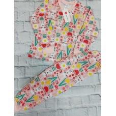 Пижама тёплая «Зайки с цветами» 4 шт в уп (1-4) оптом