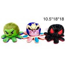 Мягкая игрушка Осьминог-супергерой перевёртыш 18 см (арт. 727-4) оптом