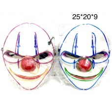 Маска на батарейках Клоун (свет) (арт. LS008) оптом