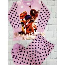 Пижама тонкая «Леди Баг» 6 шт в уп (3-8) оптом