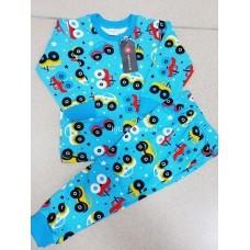 Пижама теплая «Машинки» 4 шт в уп (1-4) оптом
