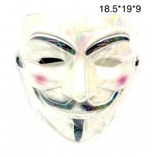 Маска Анонимуса белая (арт. CX011) оптом