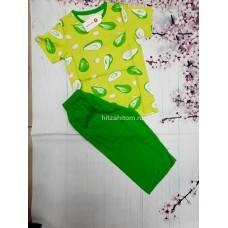 Пижама тонкая «Авокадо» 5 шт в уп (8-12) оптом