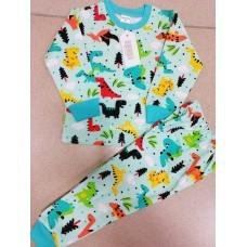 Пижама теплая «Динозавры» 4 шт в уп (1-4) оптом