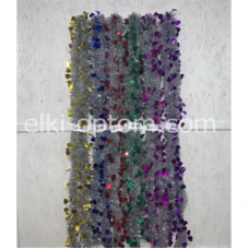 Мишура s-07 (9 см, 6 цветов, 120 шт) оптом