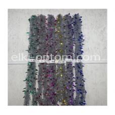 Мишура s-08 (9 см, 6 цветов, 120 шт) оптом