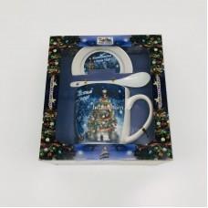 """Подарочный набор - посуда """"Желаю счастья"""" (арт. AZ-2021-10) оптом"""