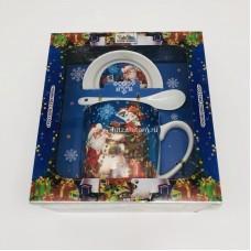 """Подарочный набор - посуда """"Дед Мороз и Снеговик"""" (арт. AZ-2021-13) оптом"""