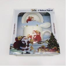 """Подарочный набор - посуда """"Дед Мороз и подарки"""" (арт. AZ-2021-5) оптом"""