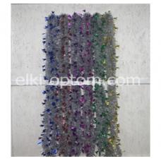 Мишура s-09 (9 см, 6 цветов, 120 шт) оптом