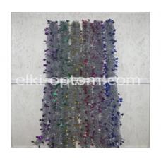 Мишура s-10 (9 см, 6 цветов, 120 шт) оптом