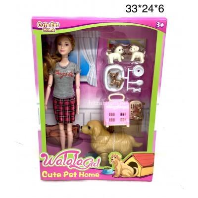 Кукла с собачками (арт. 19002B) оптом