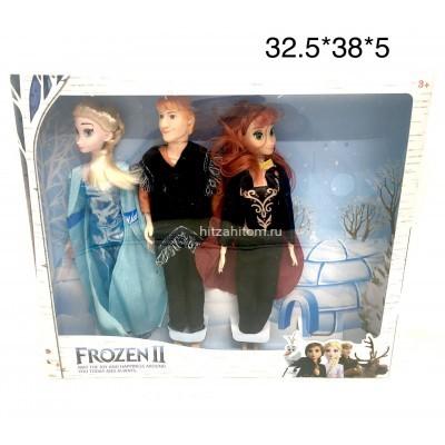 Кукла холод на шарнирах набор 3 героя (арт. 131) оптом