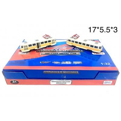 Модельки (металл) Трамвай 12 шт. в уп (YX1812-12D) оптом