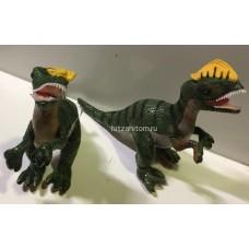 """Мягкая игрушка динозавр """"Дилофозавр"""" с желтым гребнем 48 см оптом"""