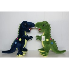 Мягкая игрушка динозавр с желтыми кружками 55 см оптом