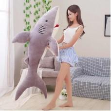 """Мягкая игрушка подушка """"Акула меховая"""" 160 см"""