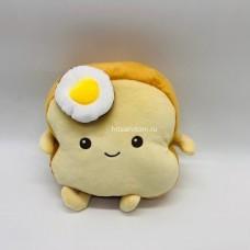 Мягкая игрушка Хлеб с яйцом 22 см оптом