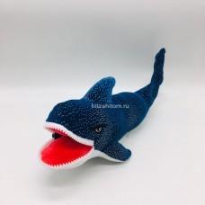 Мягкая игрушка Акула с блестками с замком оптом