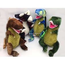 Мягкая игрушка рюкзак Динозавр 50 см оптом