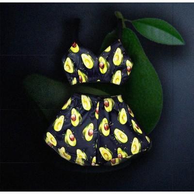 Женская пижама Авокадо(короткий топ) оптом