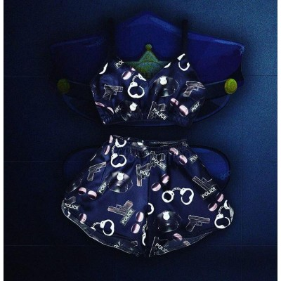 Женская пижама Police (короткий топ) оптом