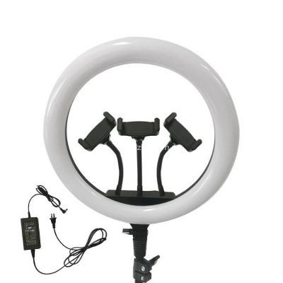 Кольцевая лампа 36 см со штативом с 3-мя держателями оптом
