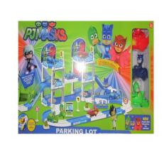 Трек-паркинг Герои в масках 3 героя на машинках оптом