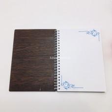 Блокнот с деревянной обложкой размер 20*15 см Among Us оптом