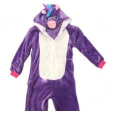 Кигуруми для детей Единорог фиолетовый 3D оптом