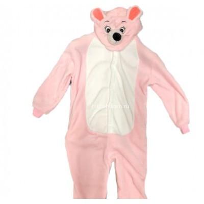 Кигуруми для детей Розовая мышь 3D оптом