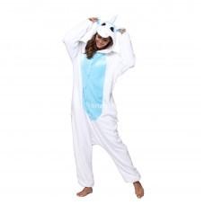Кигуруми для взрослых Единорог бело-голубой оптом