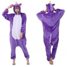 Кигуруми для взрослых Единорог фиолетовый оптом