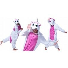 Кигуруми для взрослых Единорог бело-розовый (Пегас) оптом
