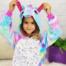 Кигуруми для детей Единорог блестящие звезды оптом