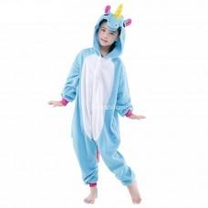Кигуруми для детей Единорог бело-голубой оптом