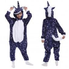 Кигуруми для детей Единорог фиолетовый с крупными звездами оптом