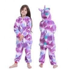 Кигуруми для детей Единорог с рисунком единорога фиолетовый оптом