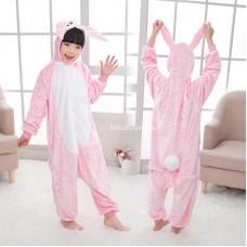Кигуруми для детей Заяц розовый оптом