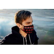 """Тканевая маска для лица """"Кресты"""" (упаковка 10 шт) оптом"""