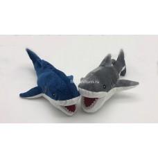 "Мягкая игрушка подушка ""Акула"" с блестками оптом"