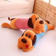 """Мягкая игрушка """"Собачка в полосатой кофте"""" 25 см оптом"""