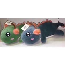 Мягкая игрушка динозавр лежачий с наушниками 60 см оптом