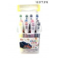 Фломастеры в футляре 12 шт в блоке (арт. 2115-12) оптом