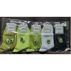 Носки с принтом Авокадо оптом